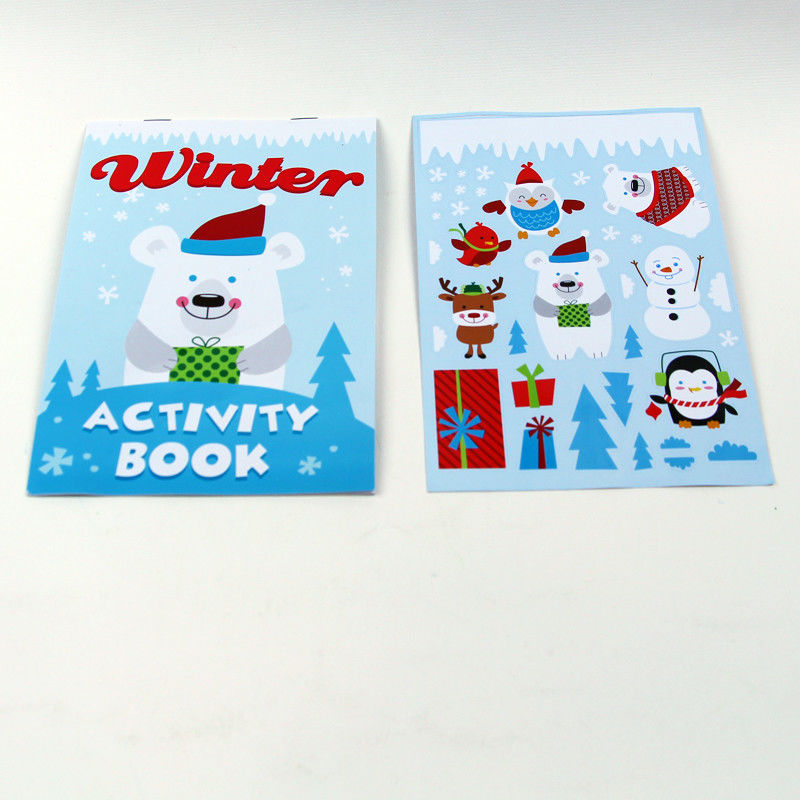 Fancy Custom Softcover Sticker Childrens Book Printing Colorful And Attractive